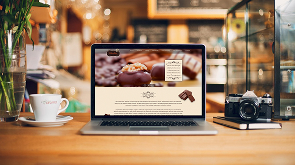 chocolate website template