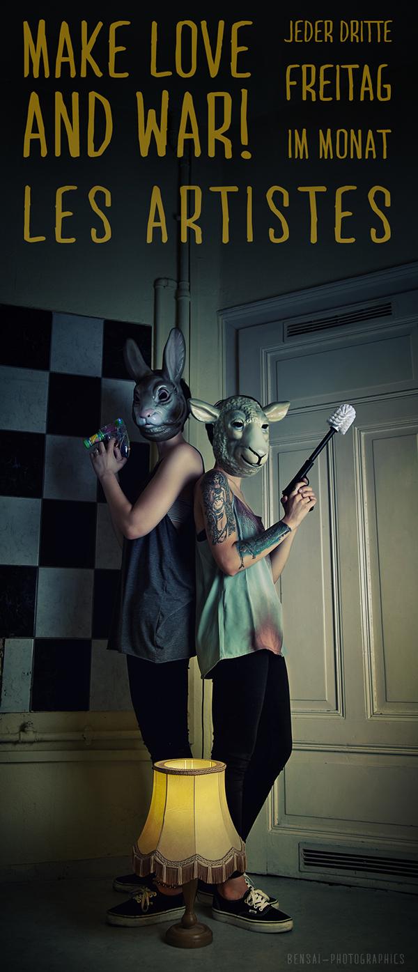 flyer poster banner les artistes Editing  shooting portrait animal mask