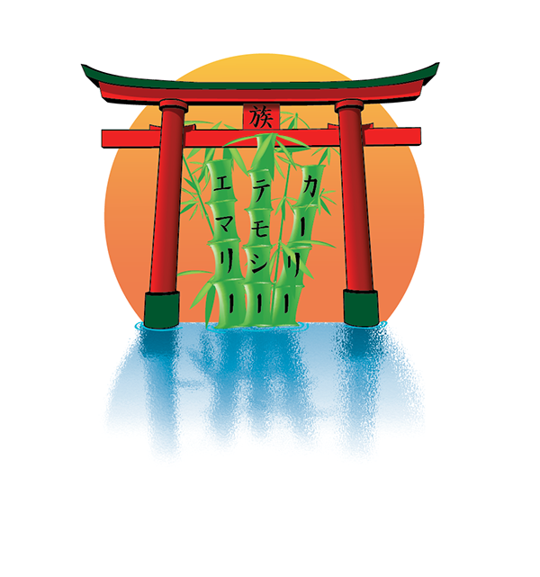 torii gate drawing - 600×641