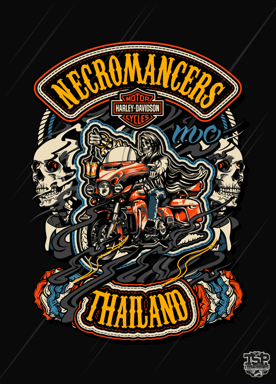 Necromancers Mc Thailand on Behance