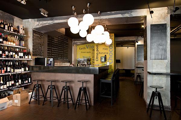 dropshop wine bar on interior design served
