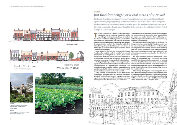 a4 conservation environment magazine newsletter PFBE prince charles prince of wales building