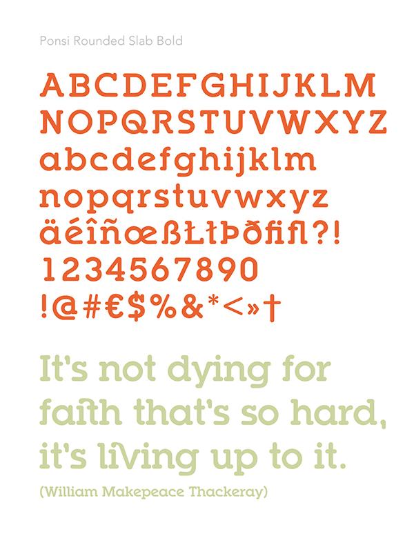 Ponsi Rounded  TypeFaith Fonts type font  font design Typeface Slab Font Leon Hulst Free font free typeface