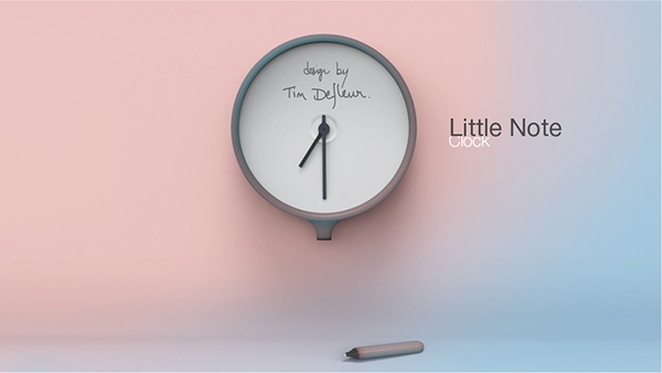 little note clock on behance. Black Bedroom Furniture Sets. Home Design Ideas