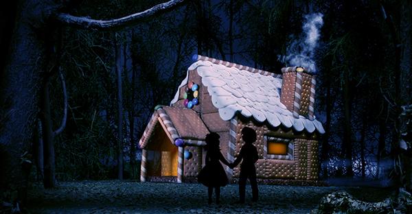 Hansel gretel Fratelli Grimm casa abitazione dolci caramelle Marzapane bambini strega fiaba cioccolata Biscotti foresta bosco