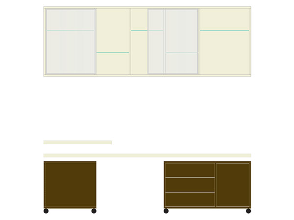 Interior furniture design product Office technical drawing