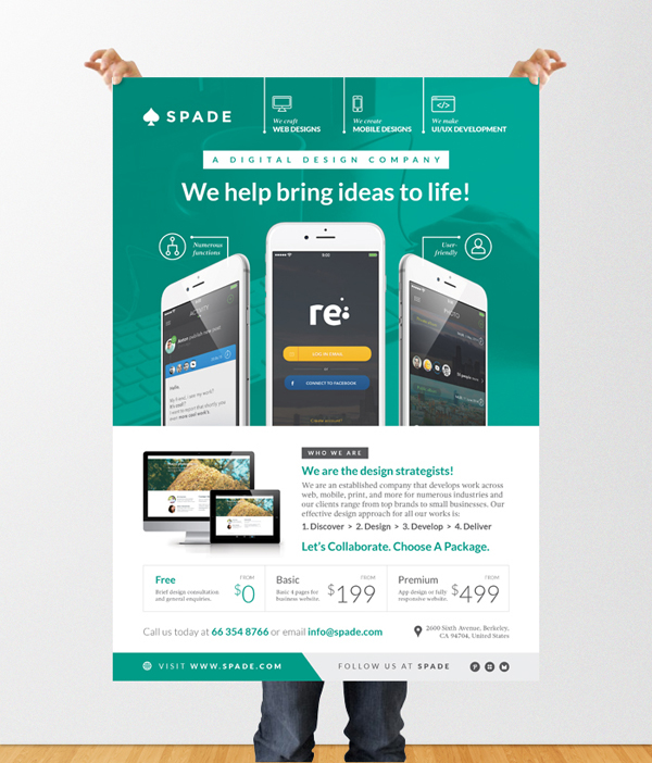 Design Services FlyerPoster Template WebAppGraphic On Behance