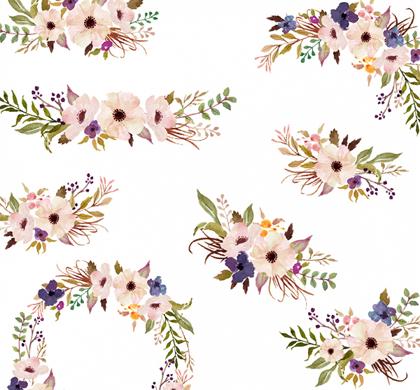 watercolor flower clipart free - photo #22