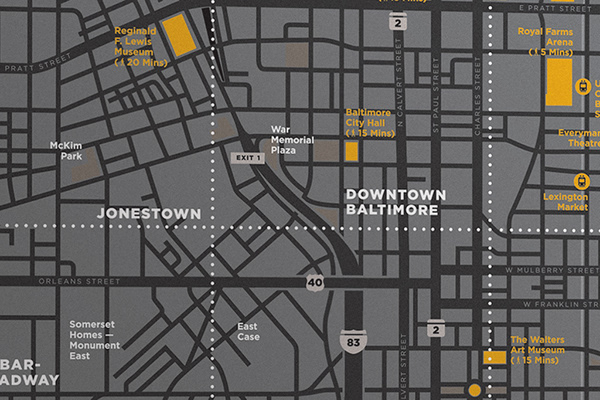 Mapping For The University Of Maryland Baltimore On Aiga Member Gallery