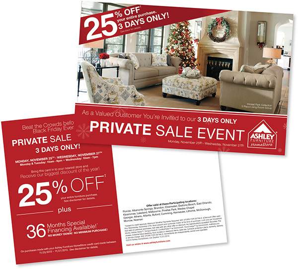 Homestore Gallery: Ashley Furniture HomeStore. Print Marketing Materials On