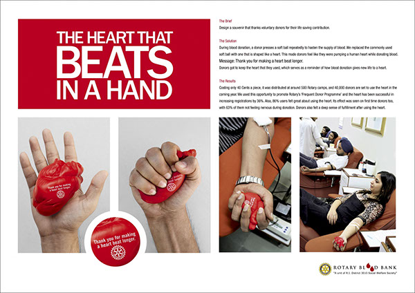 Rotary Blood Bank Ambient campaign direct marketing