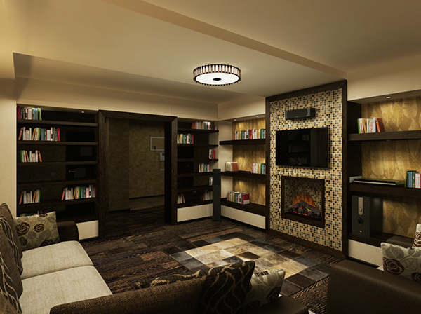 Https Behance Net Gallery 5080913 Interior Design In 1 Bedroom Apartment Of 88 M2