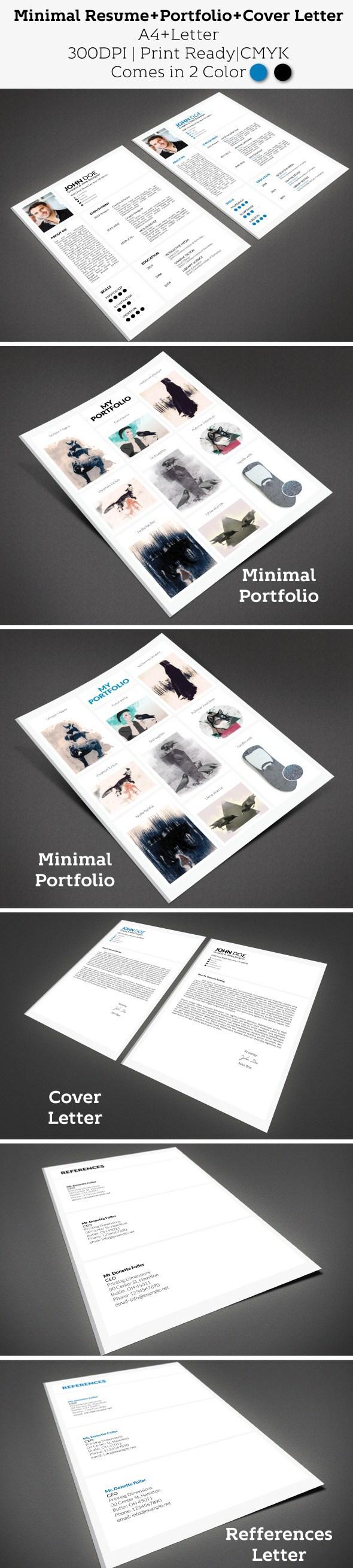 Minimal Resume clean Resume cover letter Creative Resume elegant minimal minimalist modern portfolio CV portfolio resume freebie free
