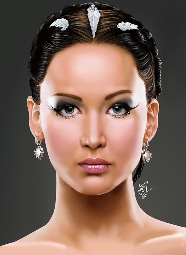 Katniss Everdeen Portrait on Behance