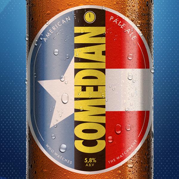 marvel comics Dc Comics beer beer design label design labels wolverine deadpool constantine hellblazer Lobo Hellboy marv Sin City pop culture