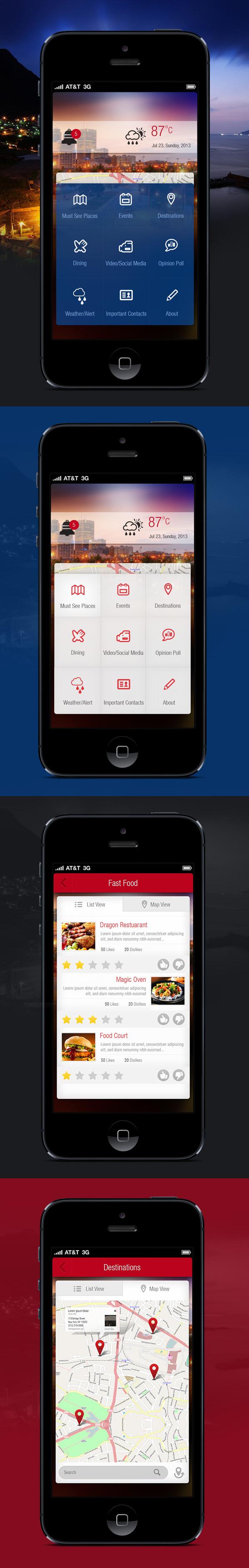 iphone app Mobile app restuarant hotel Freelance Project freelancer India designer weather weather app Tour Guid tourism