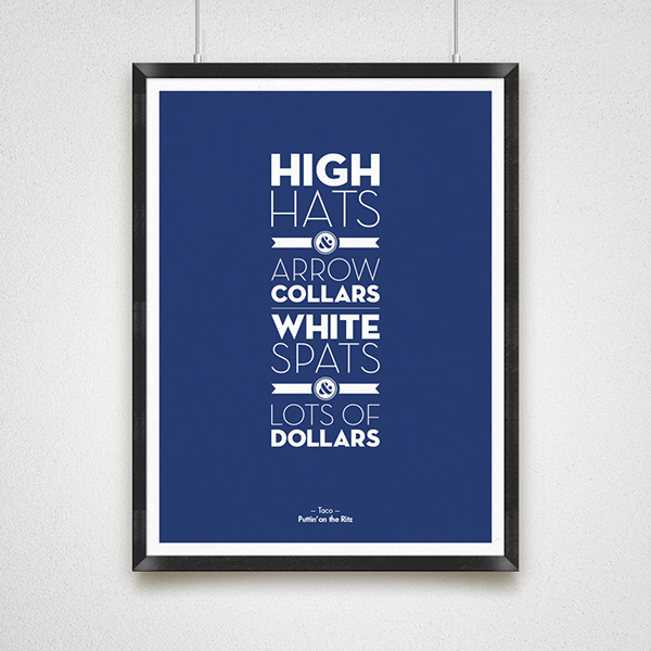 print poster Lyrics color type