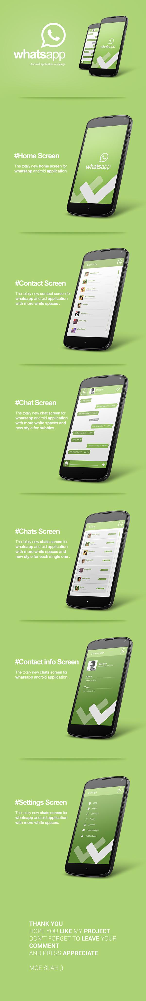 android moeslah WhatsApp UI ux app