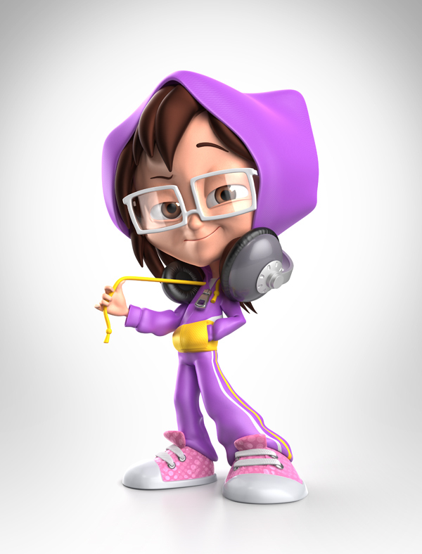 3d Character Design Behance : Jippi cool kid characters on pantone canvas gallery