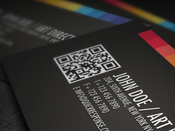 Quick response business card on behance reheart Images