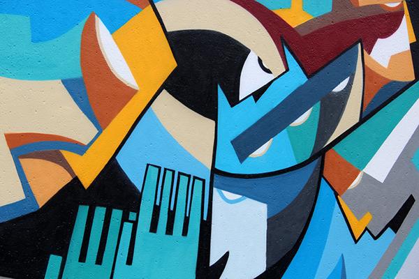 Mural streetart festival herford on behance for Thank you mural