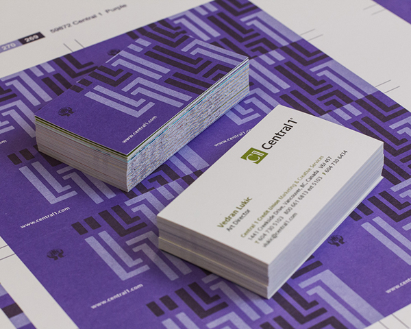 Central 1 credit union business cards on behance for Union business cards