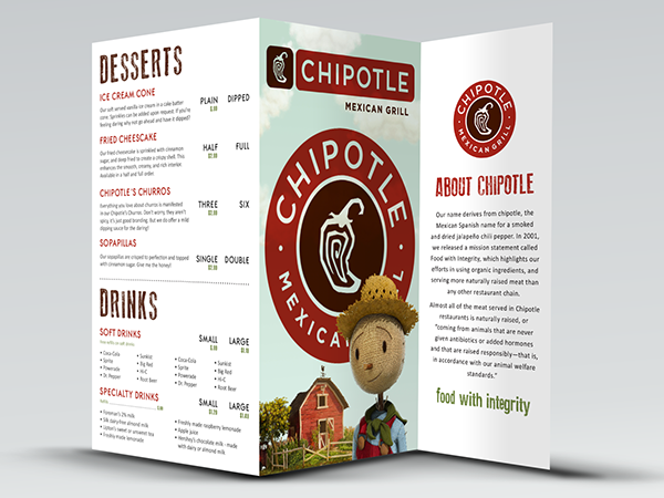 Chipotle Menu Prices You can find a full list of Chipotle menu prices on the tables below. These Chipotle menu prices are updated on a regular basis and we make sure that all new menu items are added as and when they are launched.