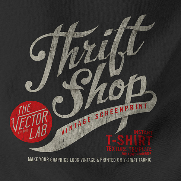 Thrift Shop Vintage Texture Template For Photoshop The Best Easiest And Fastest Way To Add Cracked Plastisol Ink Textures Make Your Graphics Look