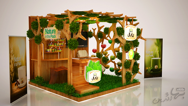 Exhibition Stand Nature : Royal natural herb booth on behance