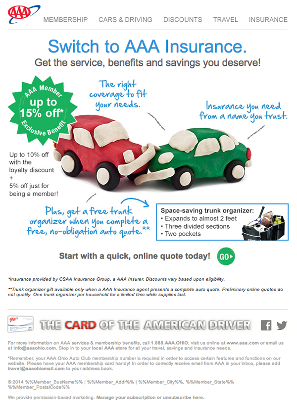 AAA Insurance Email Redesign on Behance