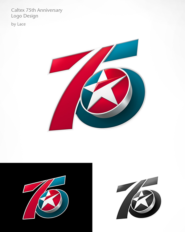 caltex 75th anniversary logo on behance