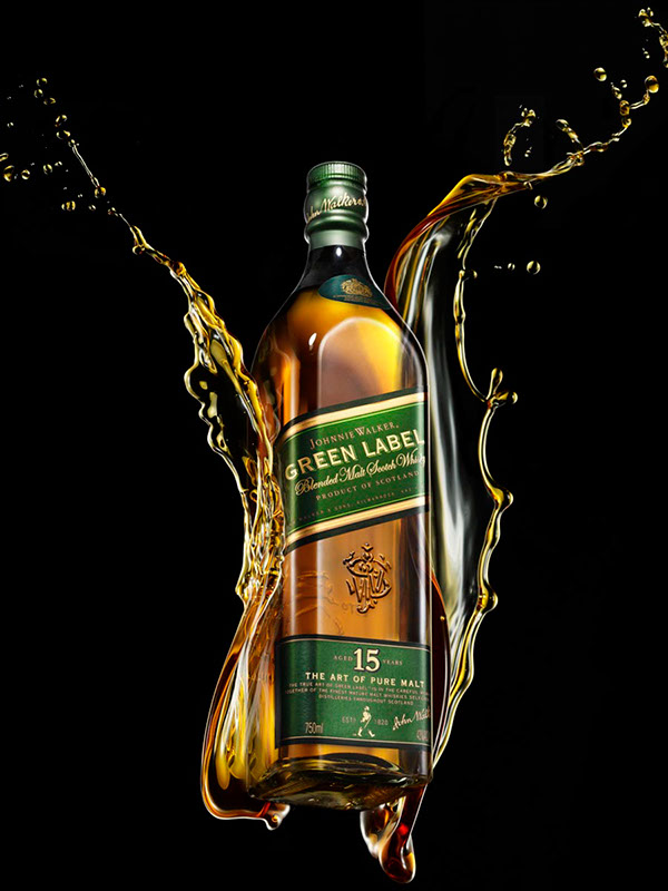 fine spirits alcohol Whisky FINE SPIRITS ADVERTISING Luxury Advertising AMARCOR product shots Pack Shots liquid photography Liquid Still Life WHISKY PHOTOGRAPHY SPIRITS ADVERTISING SPIRITS PHOTOGRAPHY production company Johnnie Walker