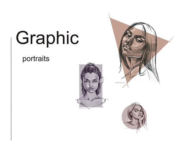 Digital portraits illustrations