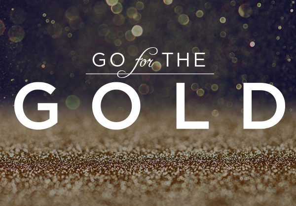 Go for the gold logo website on behance Go to the website