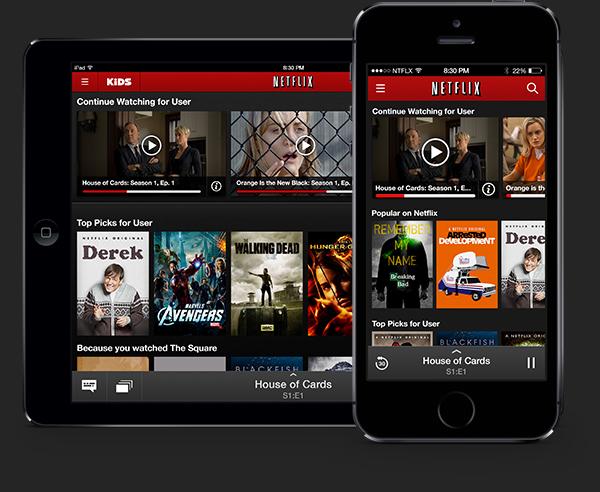 Netflix chromecast miniplayer ios android phone MDX
