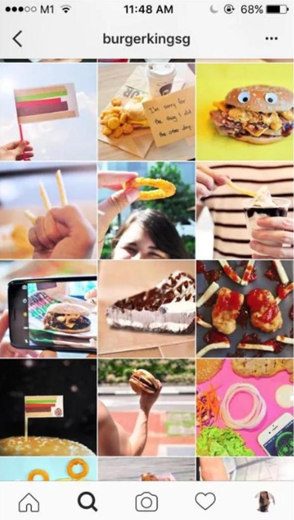 Burger King Singapore Instagram on Student Show