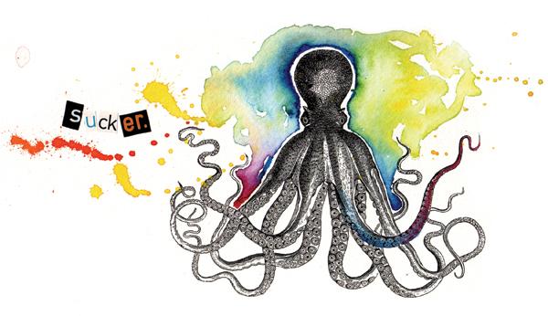 watercolor colorful funny Fun Karen Kurycki political Invitation