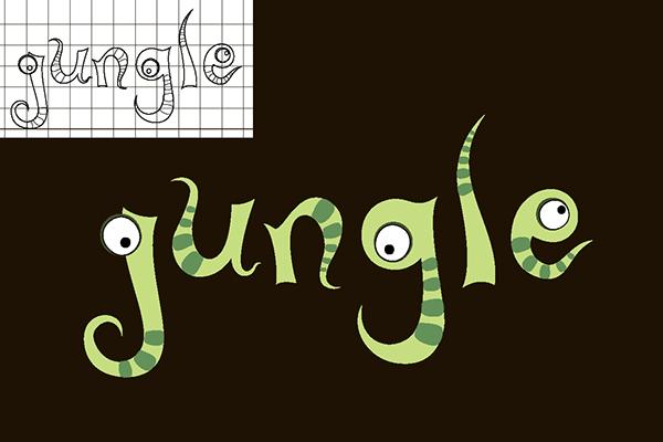jungle font on behance