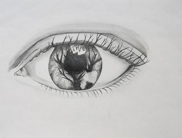 有創意感的24張手繪眼睛欣賞