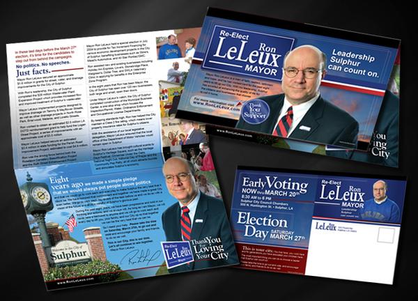 Quot Re Elect Mayor Ron Leleux Quot Political Campaign On Behance