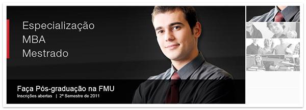 FMU University educação pós-graduação Processo Seletivo faculdade banner Email