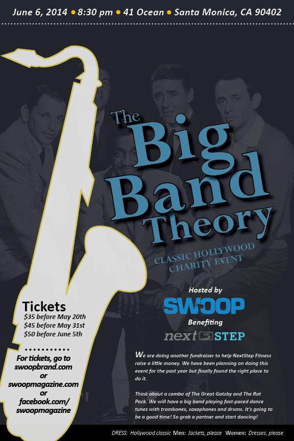 the big band theory party flier on behance