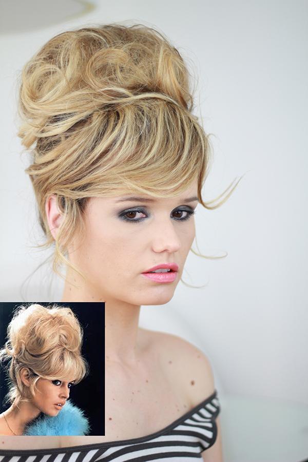 Brigitte Bardot messy updo.Hair by Eskimo. on Behance
