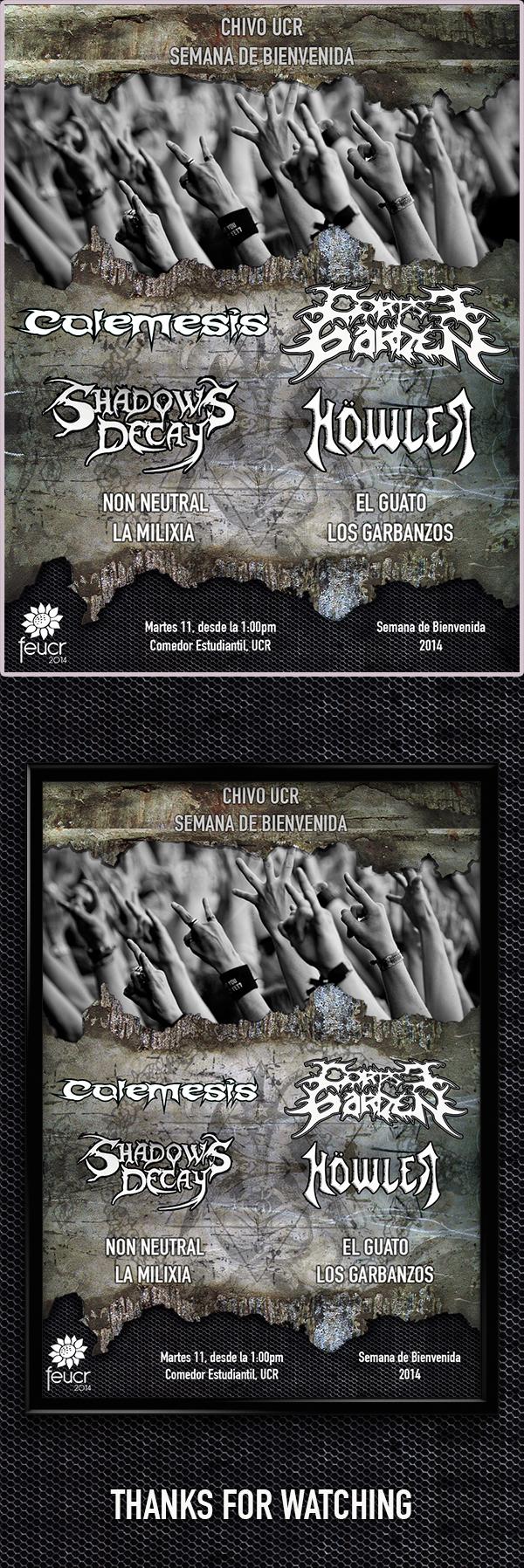 gig metal flyer poster Event