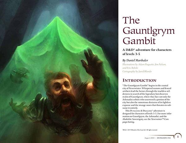 The Gauntlgrym Gambit on Behance