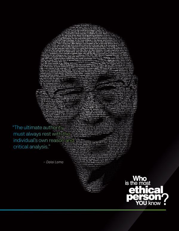 poster AECOM Ethics Nelson Mandela desmond tutu Dalai Lama Mohandas Gandhi Quotes