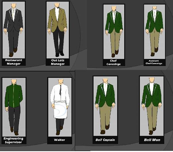 hilton hotels uniforms on behance