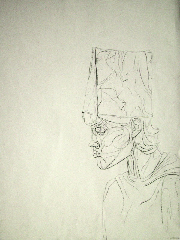 Blind Contour Line Drawing Self Portrait : Blind contour drawings on behance