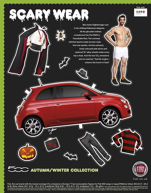 Fiat 500 Halloween Retouching Digital Ad Build On Behance