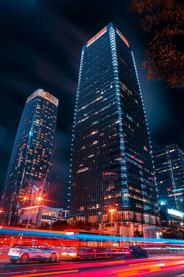 酷炫的城市车流夜景